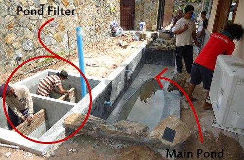 Koi pond malaysia design build specialist scapexpert for Koi pond bottom drain design